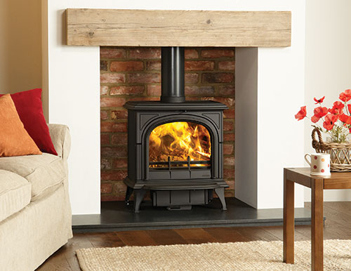 Stovax Huntingdon 40 stove with a clear door