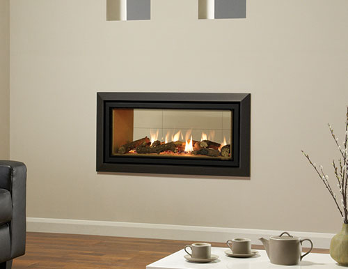 Gazco Duplex double sided gas fire