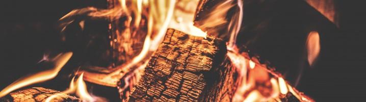 image of firewood burning