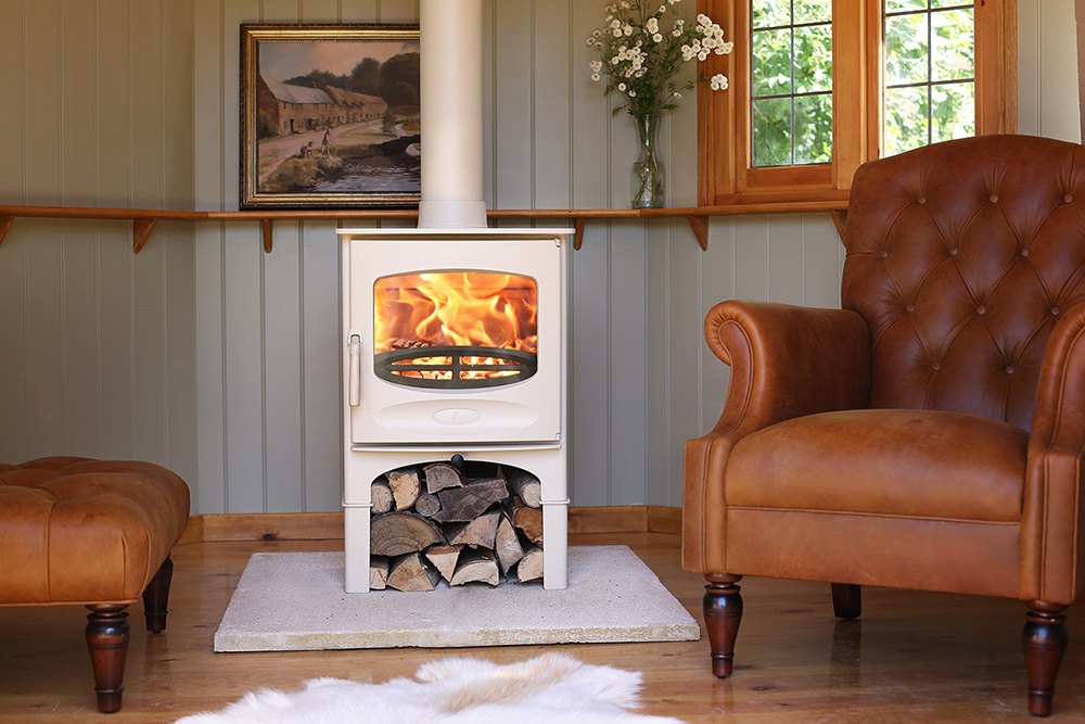 Charnwood C-FIve stove in Almond finish